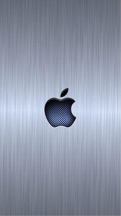 Download wallpapers Apple, 4k, metal background, Apple