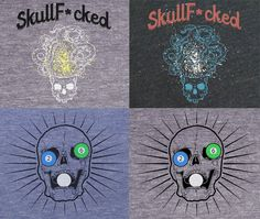 #Skull T-Shirt #Vintage style, screen printed. #Kickstarter project