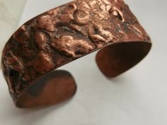 FREE SHIPPING copper bracelet electroforming copper by fripperyart