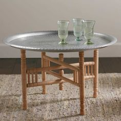 Portable Moroccan Tea Table   VivaTerra
