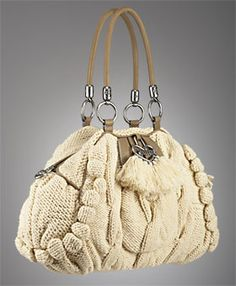 d187aa88f9e70 There are so many beautiful knitted and crochet handbags in the  high-fashion world. Purses, sachels, hobo bags, totes, you name it.