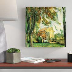 Leinwandbild Jas de Bouffan von Paul Cézanne