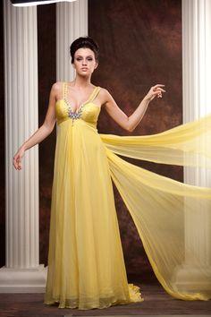 yellow formal dress #promdress #balldress