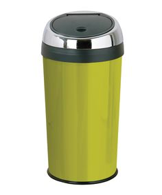 Premiere Housewares 30L lime green touch top bin