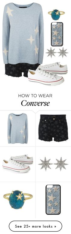 """""""Untitled #903"""" by twisted-magic on Polyvore featuring Yves Saint Laurent, 360 Sweater, Converse, Bee Goddess and Andrea Fohrman"""