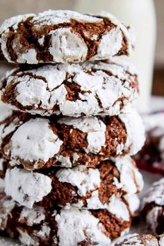 Honey Cookies, Cocoa Cookies, Chocolate Crinkle Cookies, Chocolate Crinkles, Chocolate Coating, Yummy Cookies, Baking Chocolate, Chocolate Fudge, Chocolate Christmas Cookies