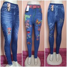 Jeggings Trendy Stylish Women Jeggings Fabric: Cotton Blend Pattern: Printed Multipack: 3 Sizes:  30 (Waist Size: 32 in, Length Size: 37 in, Hip Size: 32 in)  Sizes Available: 28, 30, 32 *Proof of Safe Delivery! Click to know on Safety Standards of Delivery Partners- https://ltl.sh/y_nZrAV3  Catalog Rating: ★4 (7701)  Catalog Name: Designer Glamarous Women Jeggings CatalogID_1531903 C79-SC1033 Code: 454-14593939-