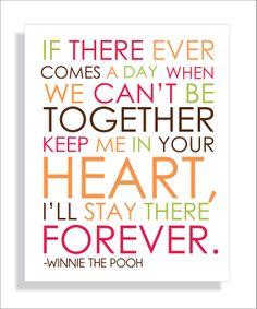 Pooh Bear Quote Modern Art Print Typography 16X20 Nursery wall decor, Kids Wall Art, Playroom wall art. $18.00, via Etsy.