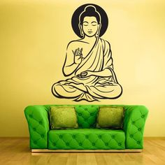 Wall Vinyl Decal Sticker Bedroom Decal Buddha God Indian z623
