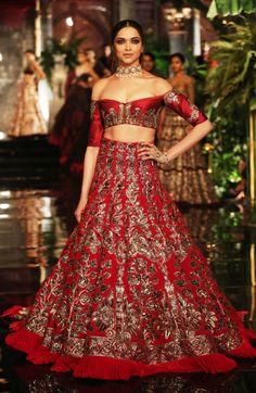 Deepika Padukone Dresses & Gowns For Manish Malhotra Collection, FDCI India Couture Week was held in 2016 at the Taj Palace Hotel, where Fawad Khan, the Indian Bridal Outfits, Indian Bridal Wear, Indian Dresses, Bridal Dresses, Pakistani Dresses, Wedding Outfits, Bridal Lehenga, Lehenga Choli, Anarkali