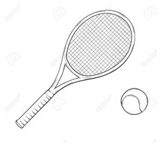 tennis-racket-coloring-page   Quilting - Appliqué ...