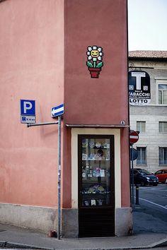 Der Street Artist Invader verziert das italienische Ravenna