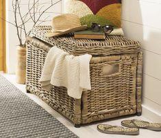 Wicker Storage Trunk, Wicker Trunk, Storage Baskets, Storage Spaces, Toy Storage, Emerson, Classic Blankets, Decorative Trunks, Wicker Furniture