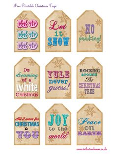 Free printable Christmas tags by In the Treehouse for blog