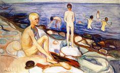 Edvard Munch (Norwegian 1863–1944) [Expressionism, Symbolism] Bathing Boys…
