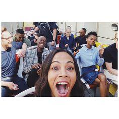 "zoesaldana: ""@avengers!!"" (https://www.instagram.com/p/Bh5FqNZnnZU/ ) #TomHiddleston #Loki #Avengers: #InfinityWar"