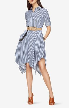 BCBG Beatryce Striped Shirt Dress