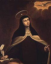 St. Teresa of Avila was a Spanish Carmelite Nun. She was a very smart, beautiful and gifted woman who gave her life entirely to God. She was a mystic, or a person who experienced God supernaturally. When she joined the Carmelite Order, the nuns there were not praying much. She reformed the Order, turning it into a strict house of unceasing prayer. The Church continues to benefit from the prayers of the Carmelites today. She is the patron saint of headache sufferers. Her feastday is 15…