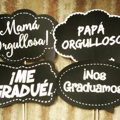 Resultado de imagen para pizarras de graduación Graduation Party Planning, Graduation Party Decor, Grad Parties, Kindergarten Graduation, Mexican Party, Ideas Para Fiestas, Barbie, Graduation Pictures, Prom Party
