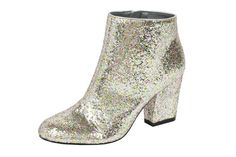 ASOS Holiday Collection glitter ankle boot