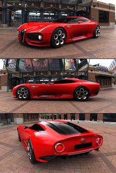 alfa romeo classic cars shows Luxury Sports Cars, Best Luxury Cars, Sport Cars, Alfa Romeo 4c, Alfa Romeo Cars, Alfa Romeo Spider, Automobile, Roadster, Futuristic Cars