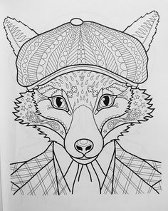Dapper Animals Coloring Book Design Originals
