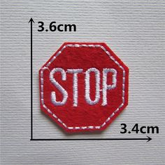 1PCS new style red color STOP Logo patch Clothing  accessories Embroidery Applique Decoration Accessories patches #clothing,#shoes,#jewelry,#women,#men,#hats,#watches,#belts,#fashion,#style