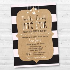Twinkle Twinkle Little Star Baby Shower by MintArrowDesigns