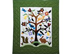 Applique Tree of Life Quilt -- terrific smartly made Amish Quilts from Lancaster (wh4349)