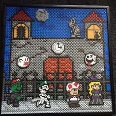 Super Mario Halloween - Hama perler bead art by operledittemarie