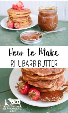 How to Make Rhubarb Butter