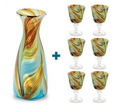 Karafka i kieliszki zestaw Mdina Glass Malta