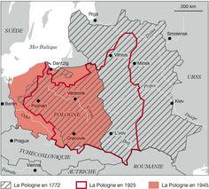 MAGNIER, Jean-Pierre. Déplacement de frontière de 1945. Cartographie, in Philippe Christol, Retrouver ses ancêtres polonais. ©Archives & Culture, 2012.
