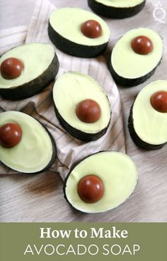 Learn how to make avocado soap that looks just like a real avocado. This avocado soap recipe is made with spinach powder and avocado butter. Avocado Butter, Avocado Oil, Melt And Pour, Cupcake Soap, Soap Making Supplies, Homemade Soap Recipes, Soap Base, Cold Process Soap, Home Made Soap