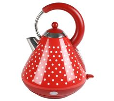 polka dot cordless kettle