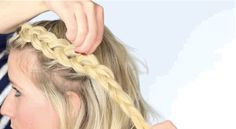 Once you're done braiding your hair, gently pull out each loop on one side, but just pull a pinch with your fingertips. The best part? You can do this on basically every braid ever.