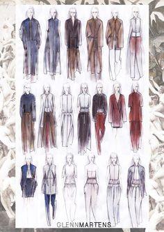 glenn martens fashion illustrations