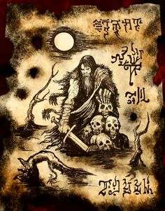 """This illustration will appear the upcoming sword and sorcery anthology """"Swords of Steel III"""" from DMR books available at the Legions of Metal Festi. At the Lake of the Dead Hp Lovecraft, Dark Fantasy, Medieval Fantasy, Fantasy Art, Necronomicon Lovecraft, Demon Book, Book Of The Dead, Dark Artwork, Magic Symbols"""