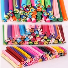 '150pcs Nail/Face Art Fimo Canes' is going up for auction at  8pm Mon, Nov 12 with a starting bid of $7.