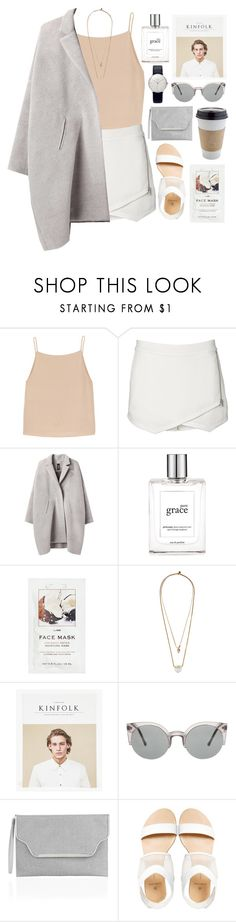 """""""coffee please!"""" by bambikisses ❤ liked on Polyvore featuring T By Alexander Wang, Witchery, Zero + Maria Cornejo, philosophy, H&M, Zimmermann, Monsoon, Pieces, Junghans and women's clothing"""