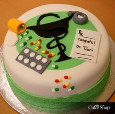 The Cake Shop : the Pharmacist Cake, I want this when I graduate pharmacy school :) Pharmacy Cake, Pharmacy School, Pharmacy Gifts, Cupcakes, Cupcake Cookies, Doctor Cake, Cake Shop, Occasion Cakes, Fancy Cakes