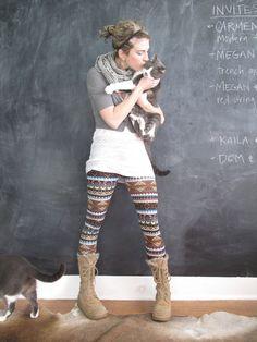AnatomyLeggings....... Cool Fall Outfit