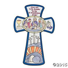 Color Your Own Last Supper Cross