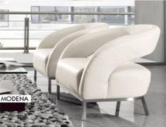 Kuka Chair - open back, very contemporary style, all leather