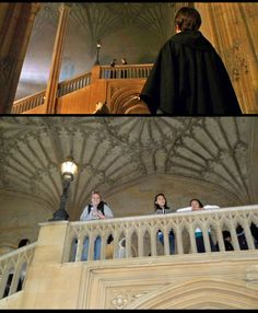 The Hogwarts Great Staircase leads to the Christ Church College Dining Hall (aka Hogwarts' Great Hall) in Oxford, England, Site #31 in Harry Potter Places Book Two:  http://www.harrypotterplaces.com/owls-oxford-wizarding-locations/  http://www.chch.ox.ac.uk/  #HarryPotter #Potterheads #Hogwarts
