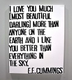 Most beautiful darling. :: I Love You Much Canvas Wall Art by Canton Box Co.
