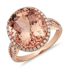 Or this one!! so gorgeous!! over hear Max! lol!!   Morganite and Diamond Ring in 14k Rose Gold