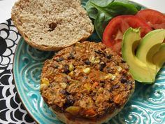 Southwestern Style Veggie Burgers Ingredients 1 15-ounce can black beans, rinsed and drained 3 cups cubed sweet potatoes (skin on), cooked ½ cup fresh or frozen corn ½ cup finely chopped onion 1 4-ounce can green chilis ½ cup cooked quinoa 6 tablespoons rolled oats 2 tablespoons ground flaxseed ½ teaspoon salt 1 heaping tablespoon taco seasoning 1 tablespoon olive oil