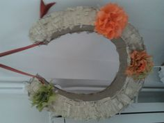 Horse shoe for a wedding pinata or use as a decoration for the top table ...