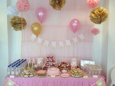 Printable Decorations // Baby Shower or First Birthday // Blush Pink and Gold Collection Budget Baby Shower, Baby Shower Gifts, Balloon Arch Diy, 2nd Birthday Party Themes, Pink And Gold, Blush Pink, Party Buffet, Gold Baby Showers, Baby In Pumpkin